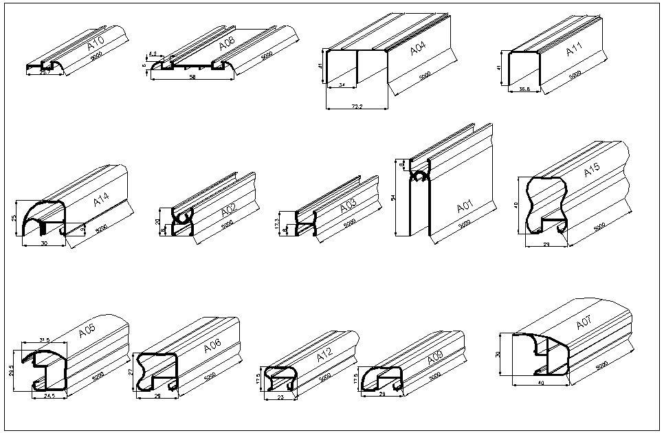 алюминиевый профиль для шкафов купе (главный ключ)