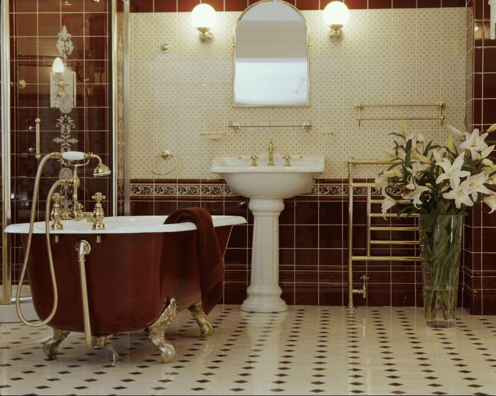 Ванная комната в английском стиле (фото) – выбор плитки, идеи интерьера