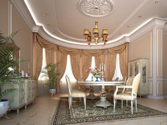 Гостиная в классическом английском стиле - дизайн интерьера