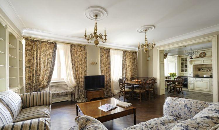 Гостиные в английском стиле, английская гостиная, английский стиль в ...