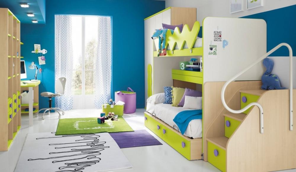 дизайн комнаты для двух мальчиков разного возраста