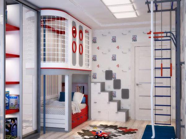 дизайн детской для двух мальчиков разного возраста