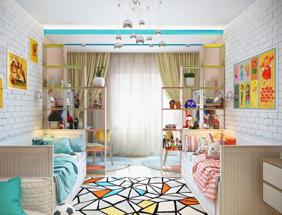 дизайн комнаты для 2 девочек разного возраста