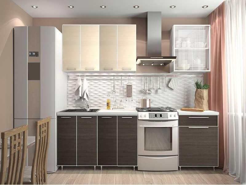 Кухонный гарнитур Венге / Дуб беленый. Длина 1,8 метра. | Кухни ...