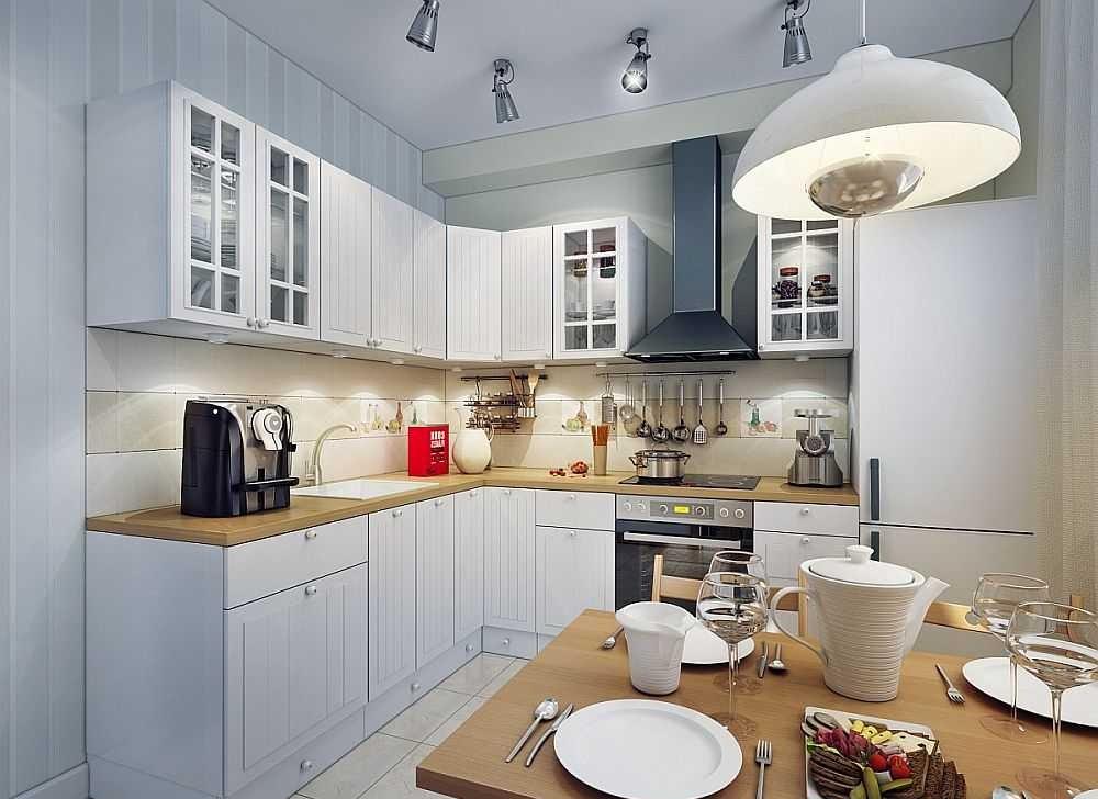 дизайн вытянутой кухни