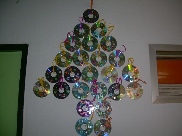 елка из дисков