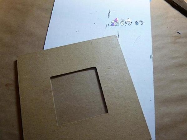 рамка для фото из старых cd