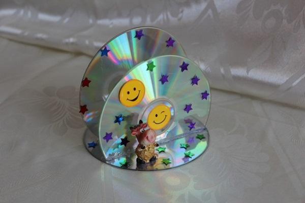 салфетница из дисков своими руками