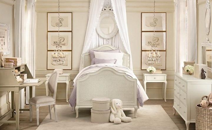 Спальня для девочки в классическом стиле