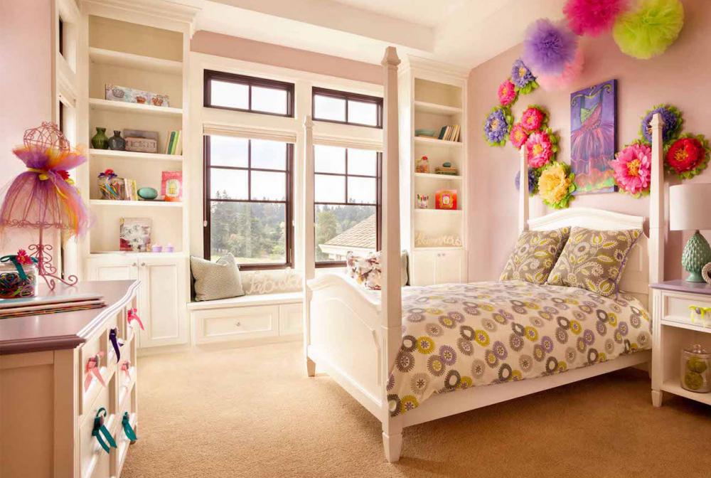 дизайн детской комнаты для девочки 4-7 лет