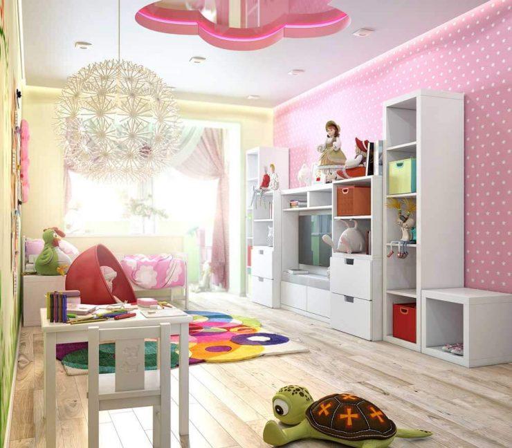 дизайн детской комнаты для девочки 3 лет