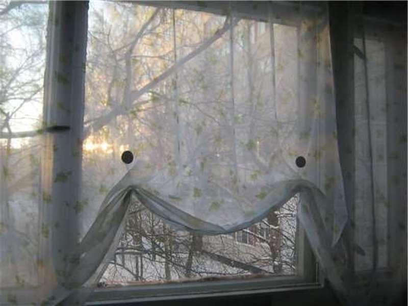 Как укоротить шторы или тюль не обрезая