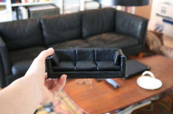 как сделать диван для кукол (главный ключ)
