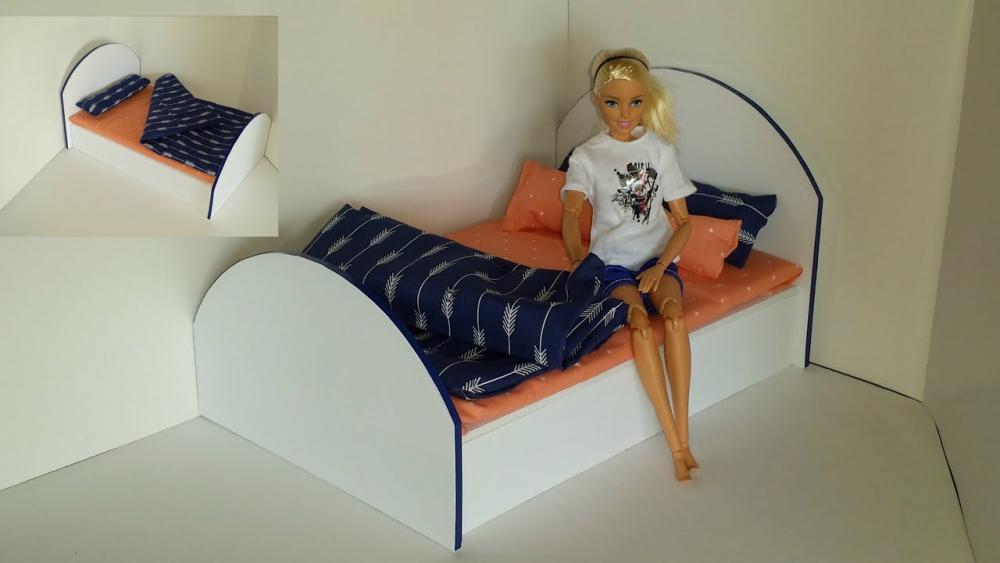 делать кровать для кукол