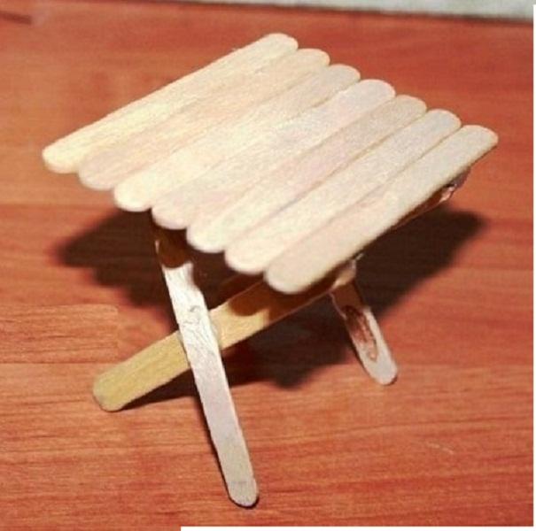 как сделать стол для кукол своими руками