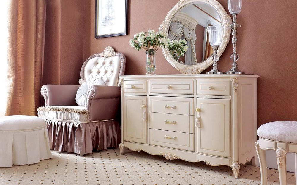 комод с зеркалом в спальню (главный ключ)