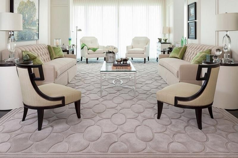 выбрать ковер на пол для гостиной