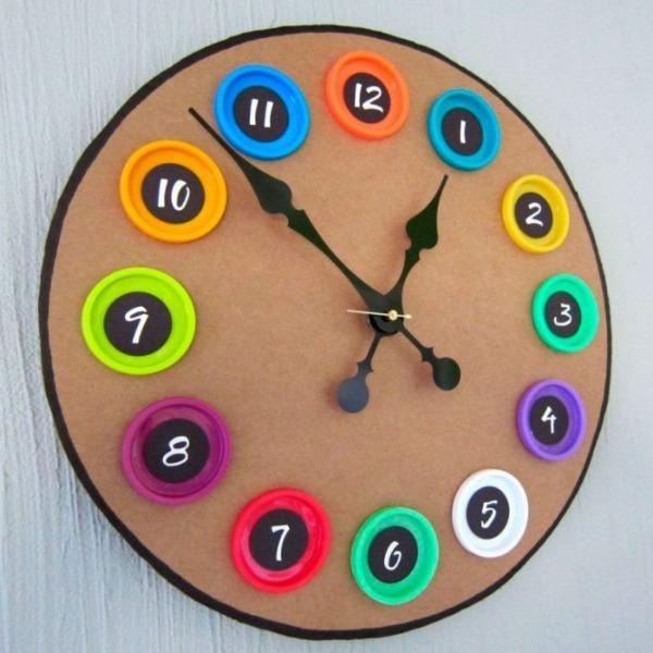 самодельные часы из картона