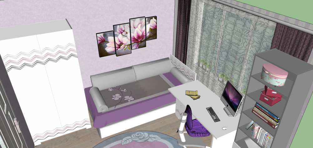 спроектировать комнату с мебелью онлайн