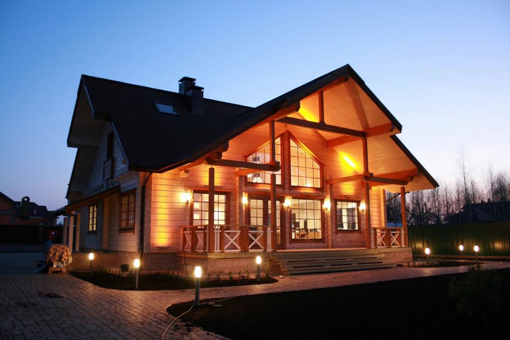 освещение в деревянном доме (главный ключ)