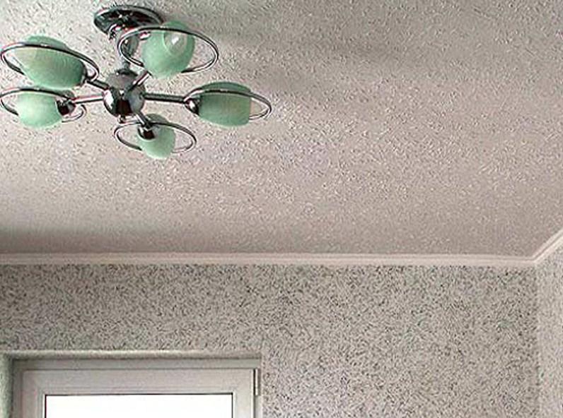 отделка потолка варианты