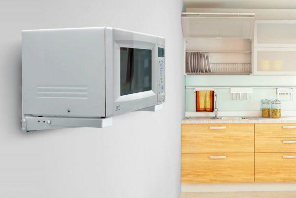 повесить микроволновку на стену
