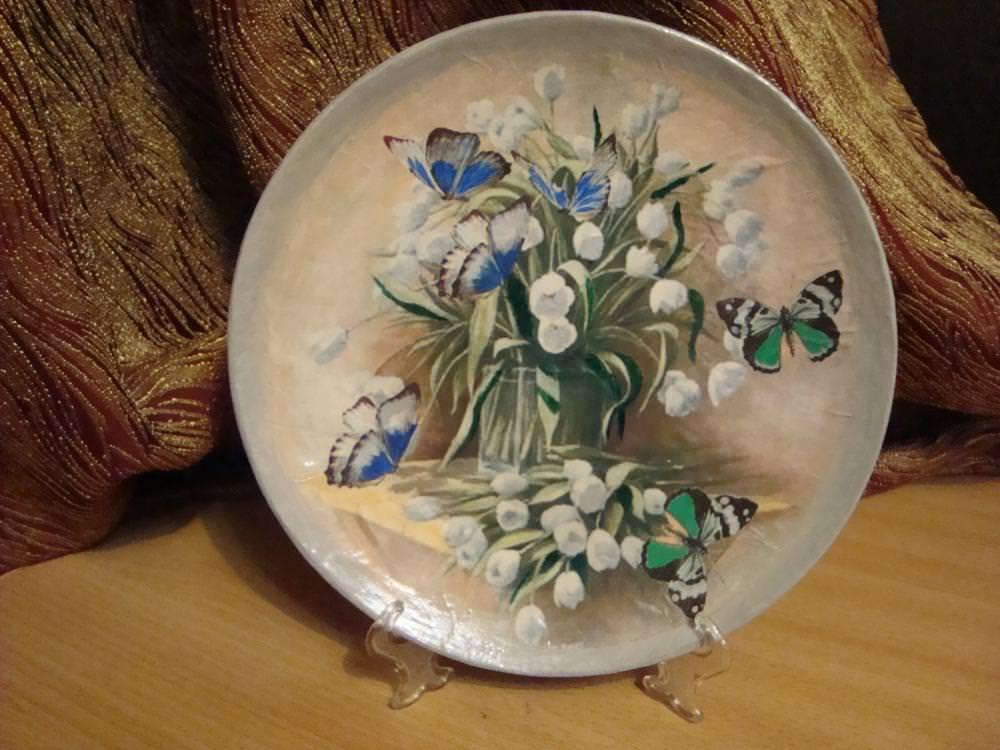 Декупаж на тарелках для начинающих MiR Handmade