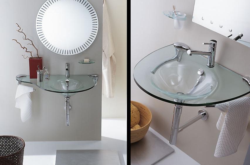 Стеклянная мебель для ванной комнаты » УниверДом