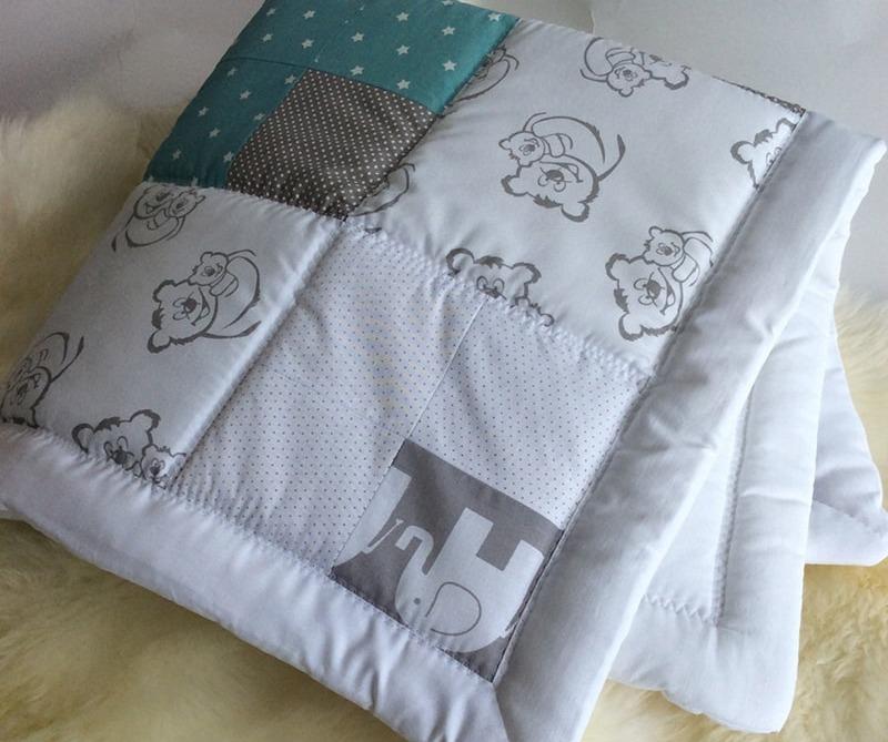 ENFANT | Одеяло для новорожденных Пэчворк Мишутка. Цена, купить ...