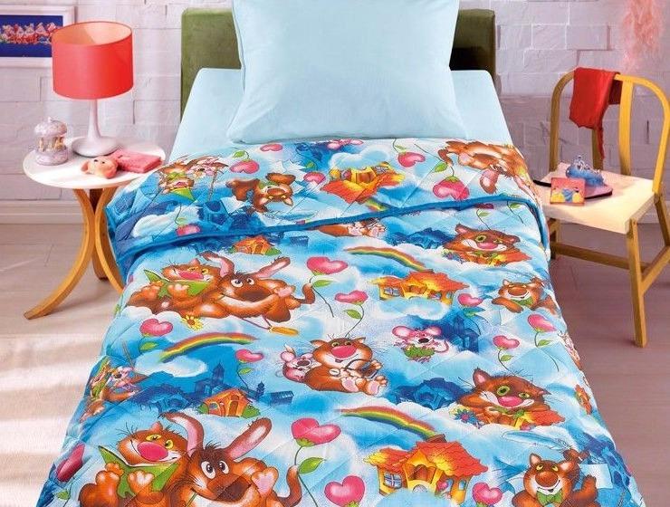 Letto Детское одеяло-покрывало, цвет: синий. 110 см х 140 см