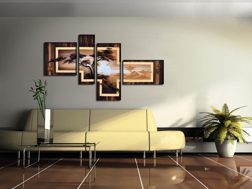 картину повесить в зале над диваном