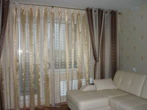 люверсные шторы в интерьере