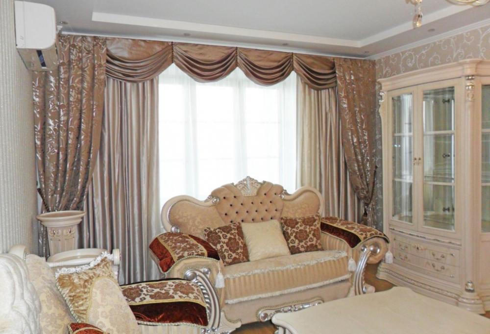 Классические шторы заказать пошив в Москве