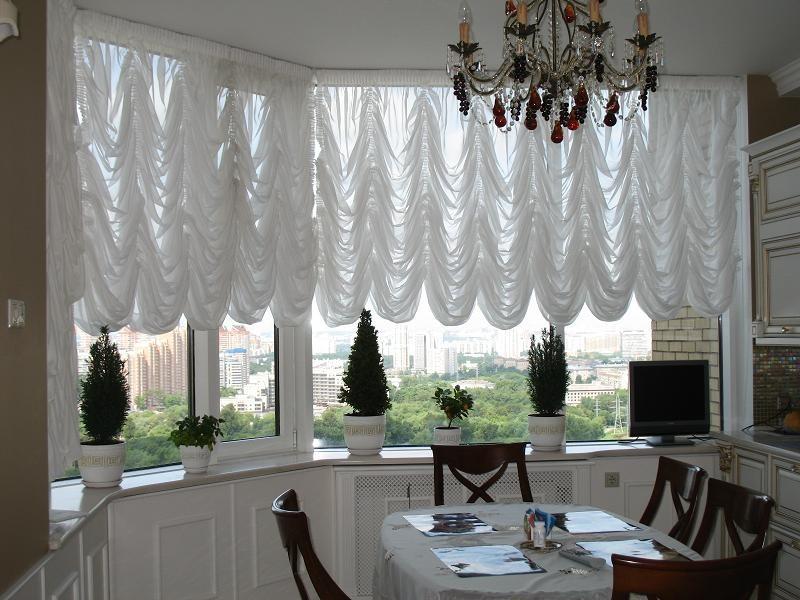 Французские шторы на кухню: фото в интерьере + пошив своими руками