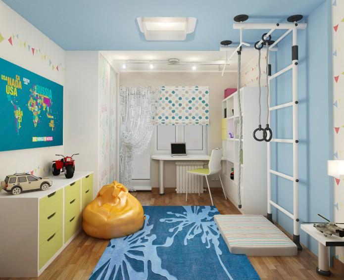 Как правильно расположить шведскую стенку в детской