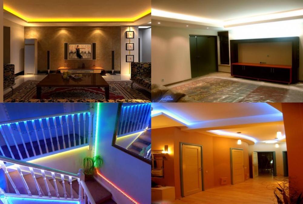 освещение светодиодной лентой в квартире