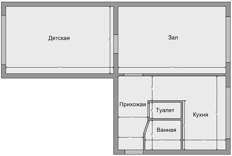 планировка хрущевки 2 комнаты варианты с размерами
