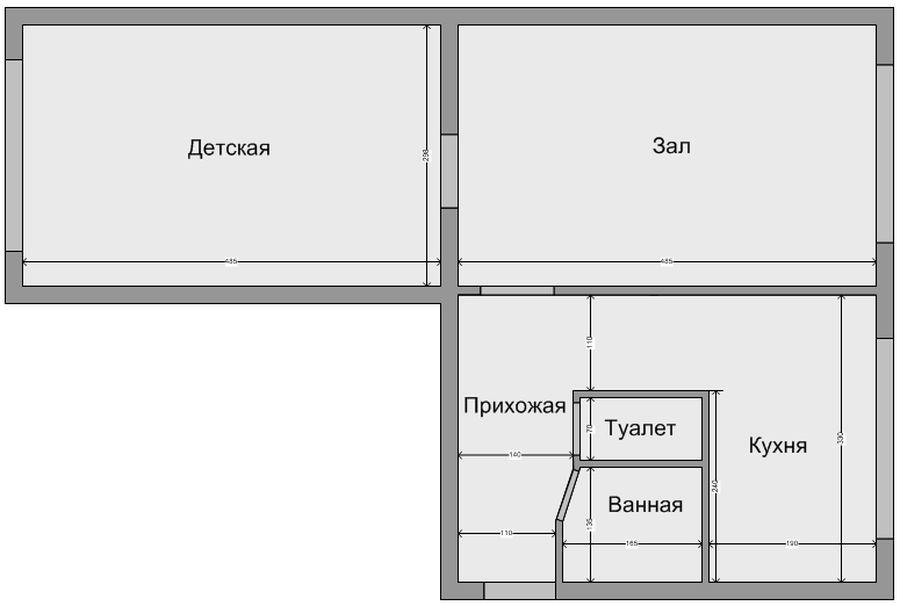 Зонирование хрущевки 2 комнаты