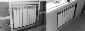 Фальшстена из гипсокартона для батареи: как закрыть своими руками, фото