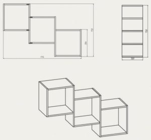 Полка для книг своими руками: как сделать, чертежи и фото