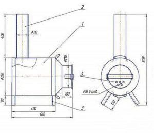 Как сделать буржуйку в гараж своими руками: чертежи и размеры