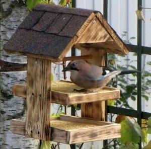 Кормушки для птиц из дерева своими руками: размеры и схемы