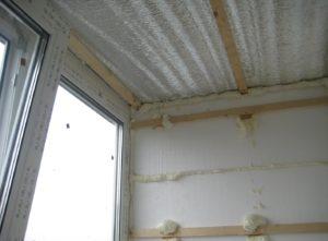 Потолок на балконе: как утеплить, чем отделать, видео