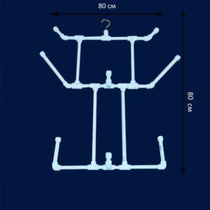 Вешалка из труб ПВХ своими руками: чертежи и фото