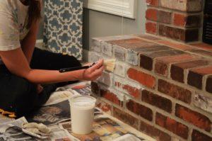 Термостойкая краска для камина