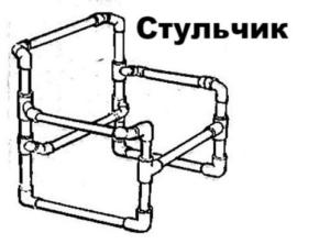 Стульчик из полипропиленовых труб своими руками