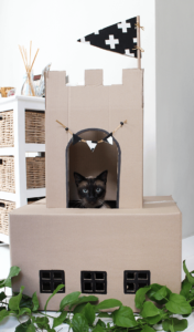 Домик для кошки из картона своими руками