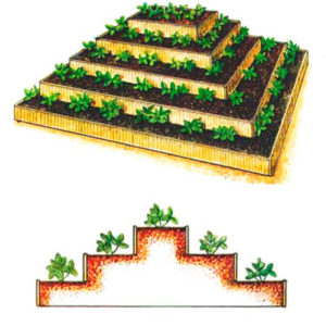 Грядка-пирамида для клубники своими руками: размеры, чертежи, фото