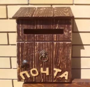 Почтовый ящик из дерева: как сделать своими руками