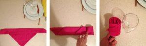 Как красиво поставить салфетки в салфетницу